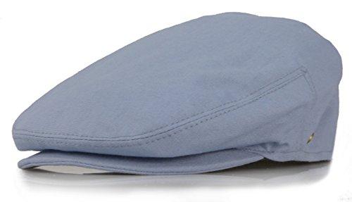 Cotton Lined Ivy Cap - New Collection Men's Colorful Newsboy Ivy Gatsby Cap (Medium, Indigo Blue)