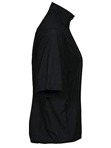 Ladies La Farbe Größe amp; xxl Push Ss black Cutter Jacket Zip Half Buck PETPnA8