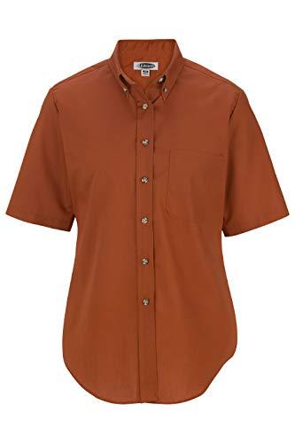 Edwards Ladies' Easy Care Short Sleeve POPLIN Shirt 2XL Rust ()