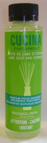 Lime Zest and Cypress Diffuser Refill,4.2 fl oz by Fruits & Passion