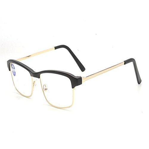 Unisex Light Resin Metal Frame Reading Glasses +1.0 - 5