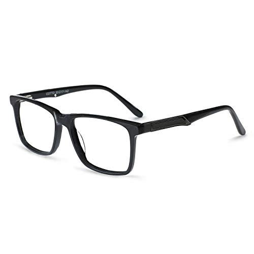 OCCI CHIARI Fashion Eyeglasses Frame Non Prescription Eyewear Women Men Clear lenses Glassees (G-Matt Black)
