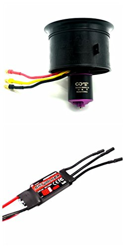 Powerfun EDF ducted fan 64mm 11 blades with 3900kv/3s brushless motor and ESC 50A for rc model airplane jet