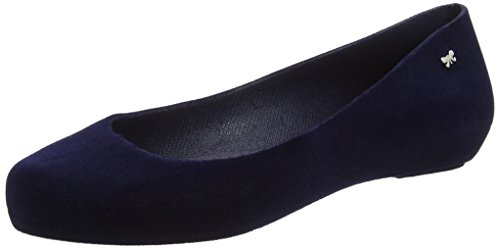 2 Femme Pop navy Zaxy 01682 Bleu Flock Ballerines AwTxg1Eq