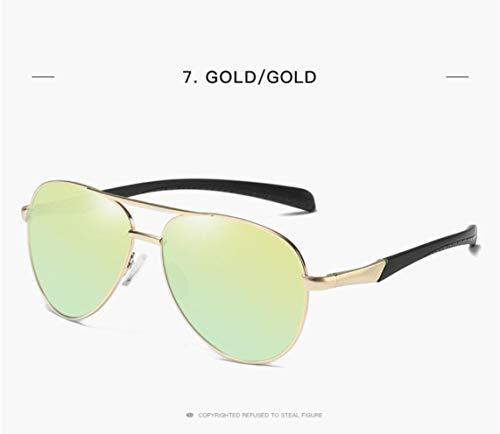 400 Gafas Protection para De UV Sol Gold Mujer para gold Piloto Y Polarized Style Hombre Classic vPvrBwtx