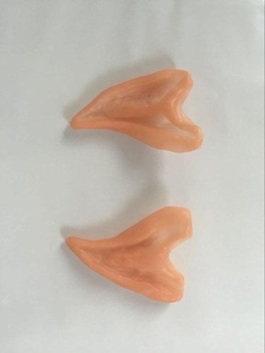Latex Elf Ears Elf Fairy Aliens Cosplay LARP Unisex (Half) (Alien Child Mask)
