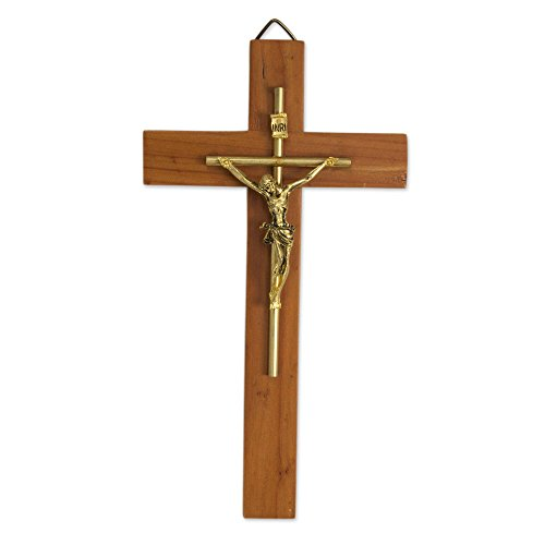 NOVICA 252431 Jesus Our Savior' Cedar Wood Crucifix