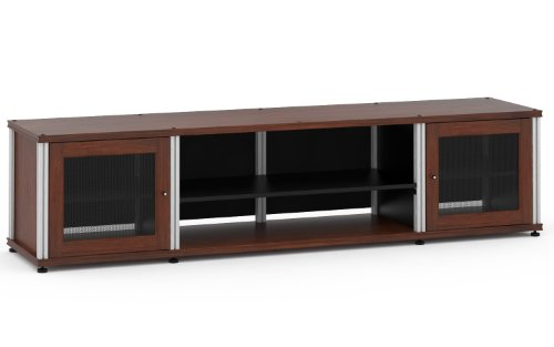 Aluminum Salamander Shelf (Salamander Designs SB248W/A Synergy Quad Model 248 Cabinet  - Walnut with Aluminum Posts)