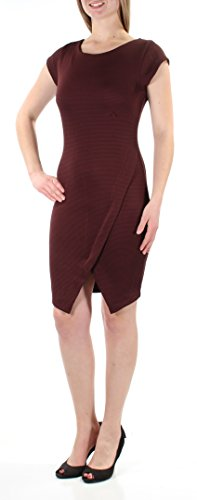 Bar III Women's Ribbed Envelope Hem Zip-Back (Envelope Hem Dress)