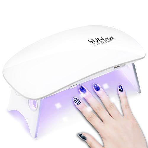 CHIMOCEE Mini Nail Dryer, 6W Portable UV LED Nail Lamp with USB Cable, Mouse Shape Curing lamp for GEL Nail Polish Professionally, Time Setting 45s and 60s ¡­
