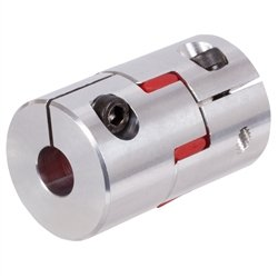 Elastic coupling RNK with clamp hubs backlash-free size 38 max torque 120Nm boreholes 38mm outer diameter 80mm overall length 114mm insert 98/° shore red