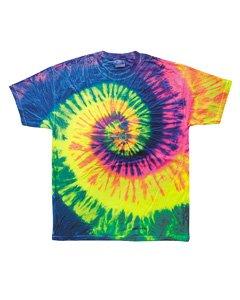 Call Tie Dye T-shirt (Colortone Adult Multi Color Tie Dye Tee, Neon Rainbow, X-Large)