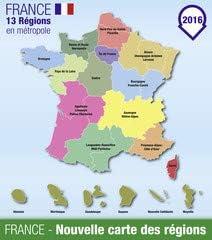 France Carte Des Regions 01 80856394 Aluminium Dibond 50 X 60 Cm Amazon Co Uk Kitchen Home