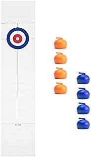 Fesjoy Tabletop Curling Game with 8 Pucks Stones for Kids and Adults Family Game Curling Board Game Gift