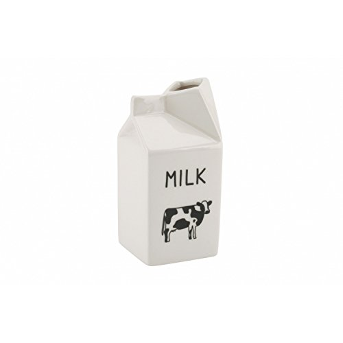 CGB Giftware Ceramic Cow Milk Jug Creamer (One Size) (White)