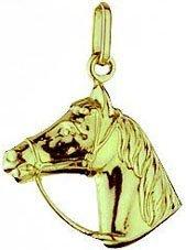 Pferdekopf Charms Anhänger echt 14 Karat Gold 585 (Art.206006)