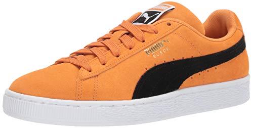 (PUMA Men's Suede Classic Sneaker Orange pop black, 8 M US )