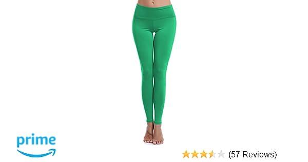 23e4b44abb Aenlley Womens High Waist Yoga Pants Tummy Control Workout Training Tight  Leggings
