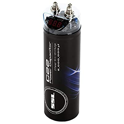 Sound Storm C22 2 Farad Car Capacitor for Energy Storage to Enhance Bass Demand from Audio System: Car Electronics