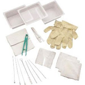 Carefusion 554681A Complete Tracheostomy Cleaning Tray With 2 Vinyl Latex Gloves,Carefusion - Each 1 (Vinyl Kit Gloves Care 2)