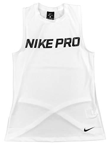 NIKE Women's Pro Intertwist Muscle Tank Top (White, ()