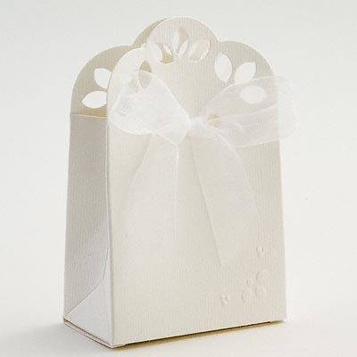 50 White Matt Stencil Sacchetto Wedding Favour Boxes Amazoncouk