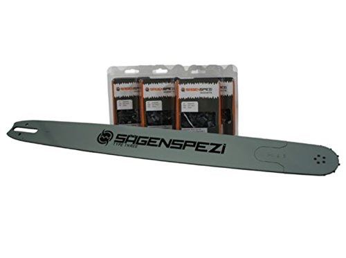 Sägenspezi 105cm Schwert 3/8 4 Vollmeißelketten passend für Stihl 038 AV Super Magnum MS380 MS 380