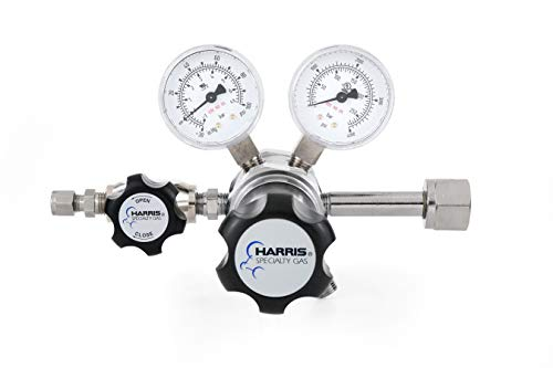 Oxygen specialty gas lab regulator, CGA 540, 2-stage, chrome-plated 0-50 PSI