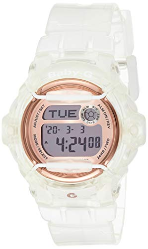 Casio Baby-G White Rose Gold Watch Digital