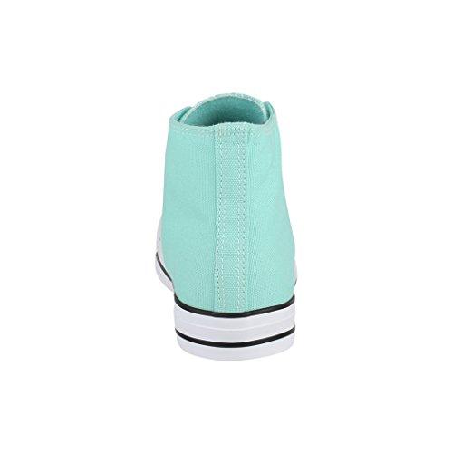 Scarpe Aus Unisex Donna Größer Uomo Fällt Elara Kult Scarpe Tessile Per High Sneaker Comodo Basic e Top Sport Green dUdqXSw