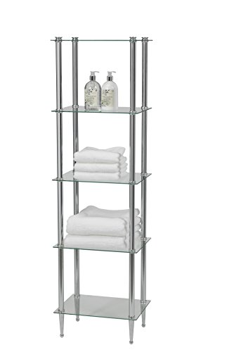 Creative Bath Products L'etagere - Classic & Transitional Series 5 Shelf Tower, Chrome