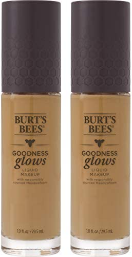 Burt's Bees Goodness Glows Liquid Makeup, Pecan - 1.0 Ounce (Pack of 2)