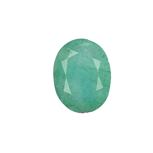 Looking Nice Green Emerald 5.90 Ct Certified Natural Oval Green Emerald Gemstone DX-892 ()