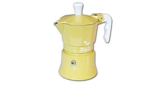 Cafetera Espresso d & D amarilla 1 taza: Amazon.es: Hogar
