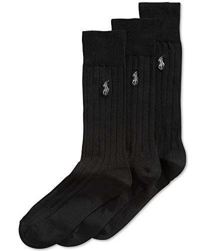 n's Dress Socks, 3 Pair, size 10-13 (Black - Merino Wool) ()