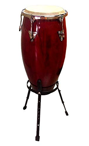"Conga DRUM 11"" + STAND - RED WINE -World Percussion NEW!"