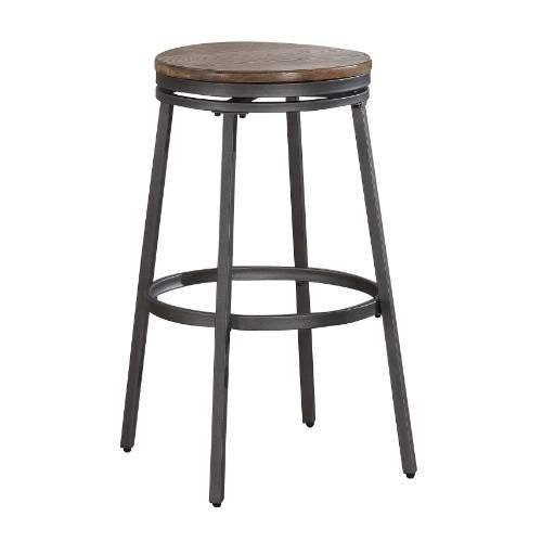 VECELO 30 Seat Height Metal Pub Counter Stool Kitchen Side Chair, Set of 4, Black