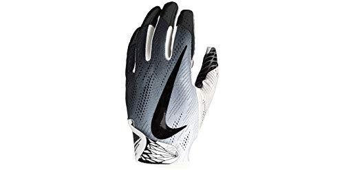 (Nike Football Glove - Vapor Knit 2.0 (White/White/Black, Medium))