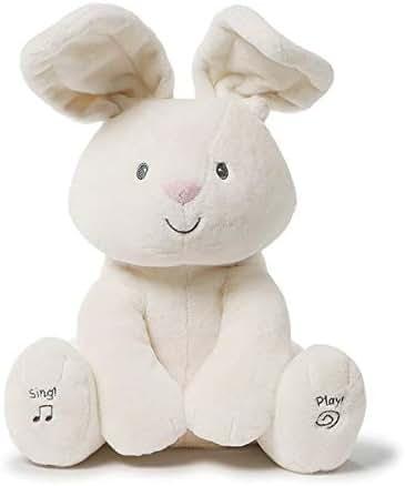 Baby GUND Flora The Bunny Animated Plush Stuffed Animal Toy, Cream, 12