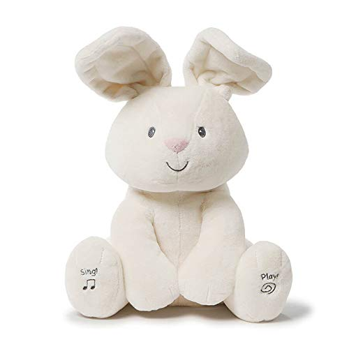 (Gund Baby Flora The Bunny Animated Plush Stuffed Animal Toy, Cream, 12