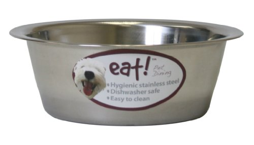 OurPets Basic Stainless Steel Dog Bowl, 2 Quart (2 Quart Dog Bowl)