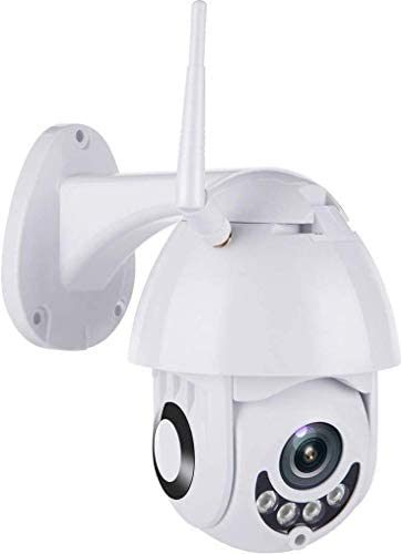 PTZ WiFi Security Camera Outdoor Home, 1080P HD IR Surveillance CCTV IP Camera, Wireless Pan Tilt Dome Camera, Two Way Audio, Night Vision, Motion Detection, Remote Monitor Camera,Waterproof, H.264 5X