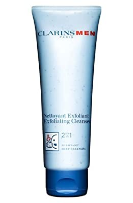 Clarins Men/active Face Scrub Exfoliator Cleanser Gel 4.4 Oz