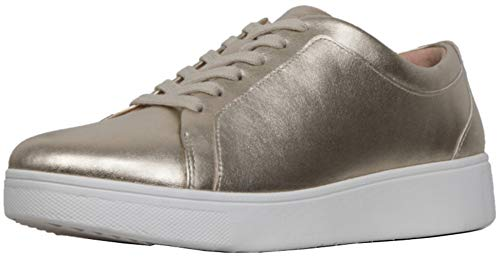 - FitFlopTM Womens RallyTM Leather Sneakers, Platino, Size 5
