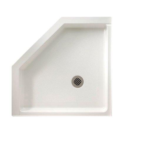 - Swanstone R-36NEO-010 Veritek Neo-angle Shower Base, 36-in L X 36-in H X 5.5-in H, White