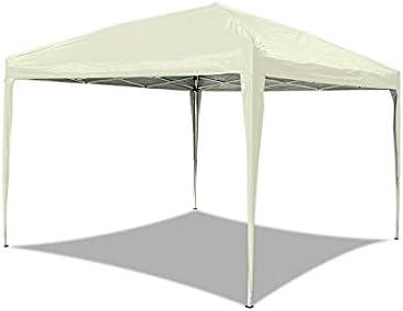 HG®carpas plegables 3x3m Pabellón plegable Tienda de jardín Pabellón de jardín Tienda de campaña Tienda plegable Impermeable Popup PVC Costuras selladas en verde (beige): Amazon.es: Jardín