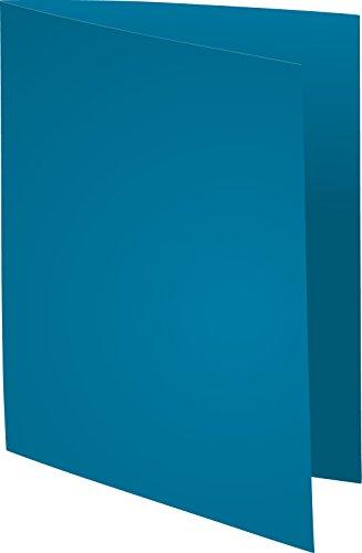 Exacompta 410010E Aktendeckeln aus Recycling Karton, 250 g foldyne forever, Format DIN A4, 100 Stück, blau