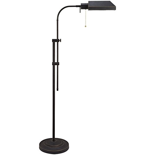 Kira Home Prescott 58†Adjustable Standing Pharmacy Floor Lamp, Dark Bronze Finish, Includes 6W LED Bulb (60W eq.) Energy Efficient, Eco-Friendly (Contains Minimal Blemishes/Inconsistencies) (Bronze Pharmacy Floor Lamp)