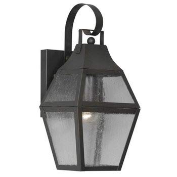 Livex Lighting 2080-07 Outdoor Wall Lantern with Seeded Glass Shades, - Augusta Lantern Outdoor
