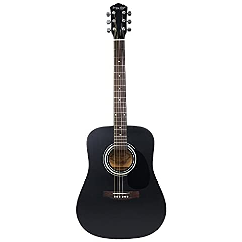 41-inch Professional Acoustic Guitar, Strong Wind 4/4 Full Size Dreadnought Steel String Acoustic Guitar Kit with Gig Bag, Tuner, Extra Strings, Picks, Polishing cloth and Guita Capo (Professional Guitar Tuner)